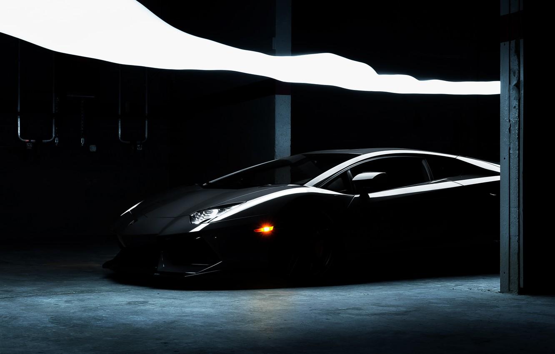 Photo wallpaper Lamborghini, Lamborghini, black, black, Lamborghini, LP700-4, Aventador, Aventador