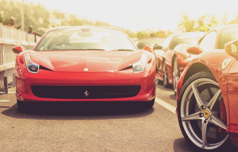 Photo wallpaper car, auto, red, red, sports car, ferrari, Ferrari