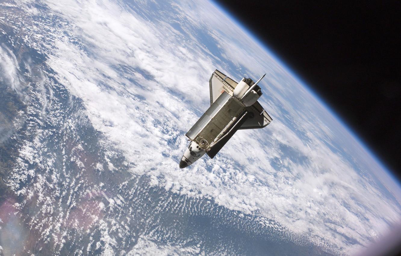 Photo wallpaper photo, Earth, Shuttle, NASA, Shuttle