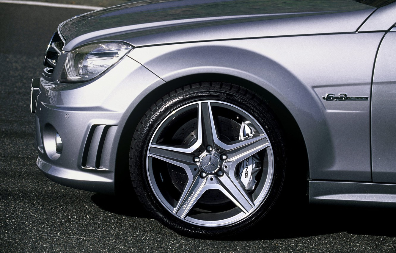 """Photo wallpaper disc, C 63 AMG sedan in a configuration """"Special series"""", 3AMG"""