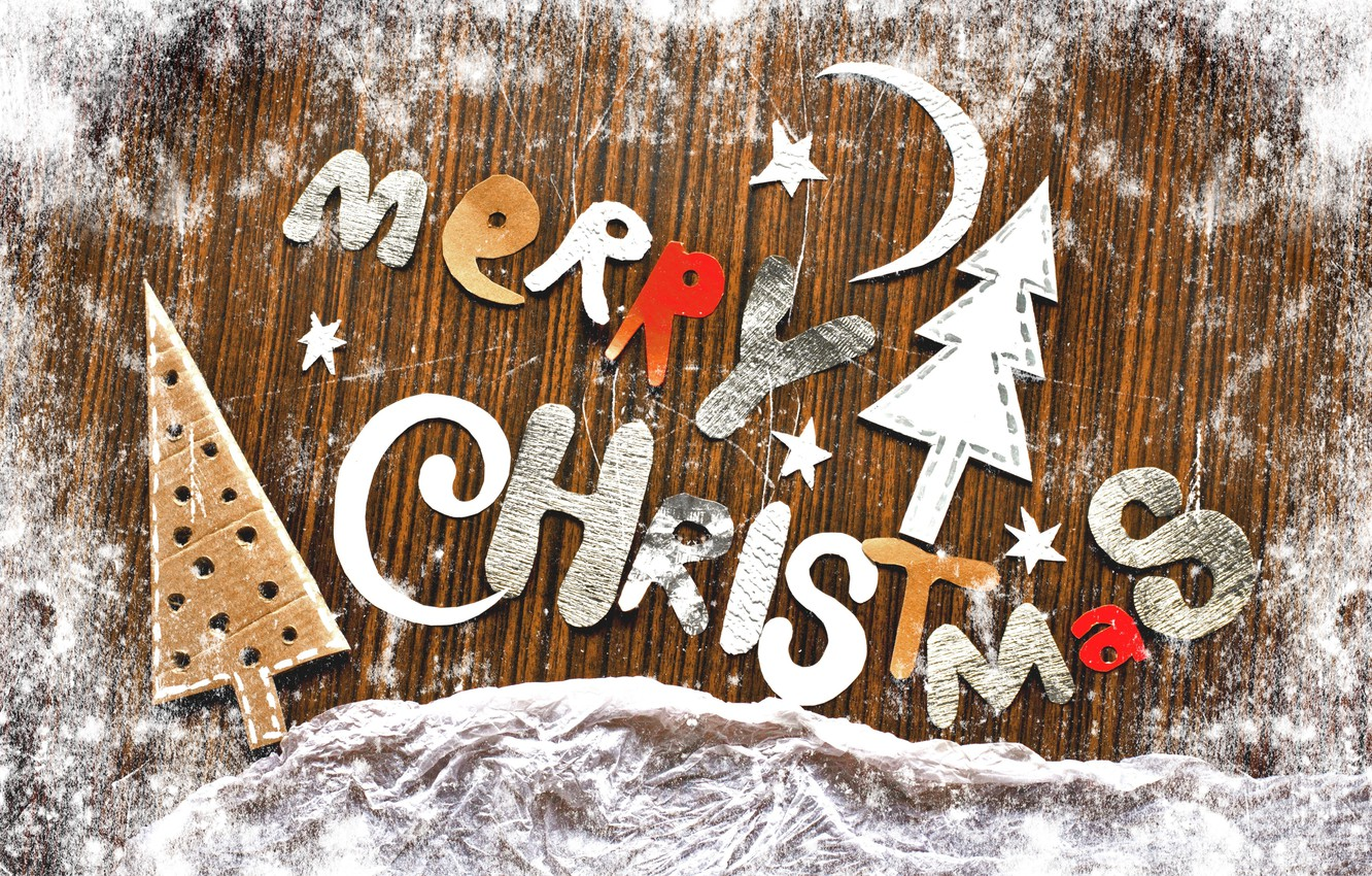 Photo wallpaper letters, holiday, the inscription, Christmas, vintage, figures, vintage, congratulations, Merry Christmas, paper, cardboard
