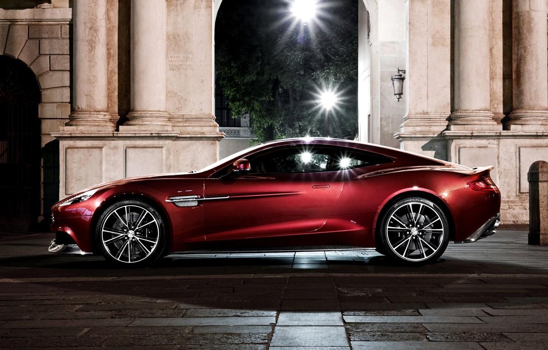 Photo wallpaper Aston Martin, Night, Machine, Light, Lights, Light, Car, Car, Is, Night, Wallpapers, Aston Martin, Wallpaper, …