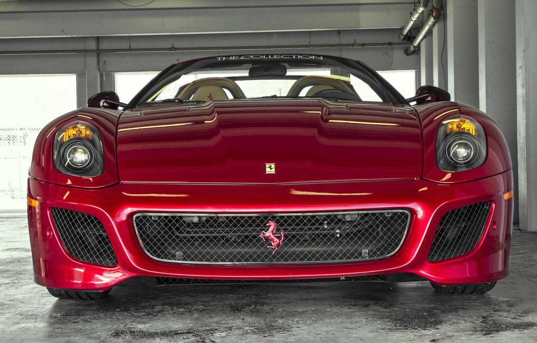 Photo wallpaper red, before, Ferrari, red, Ferrari, 599, front, SA Aperta