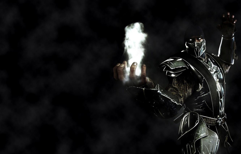 Photo wallpaper smoke, ninja, smoke, mortal kombat