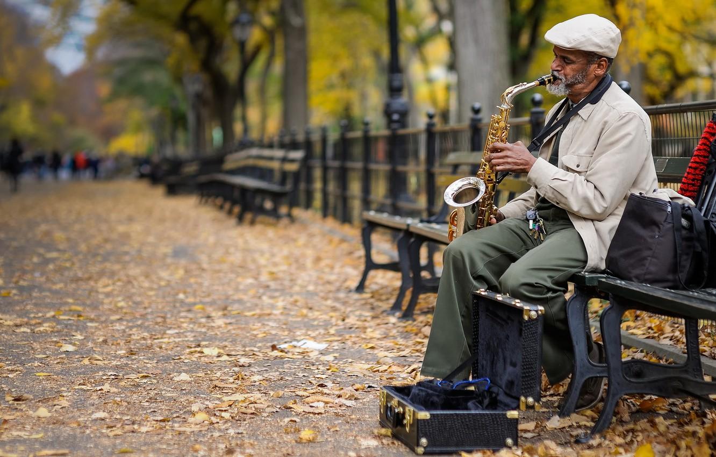 Обои saxophone, музыка, street. Музыка foto 10
