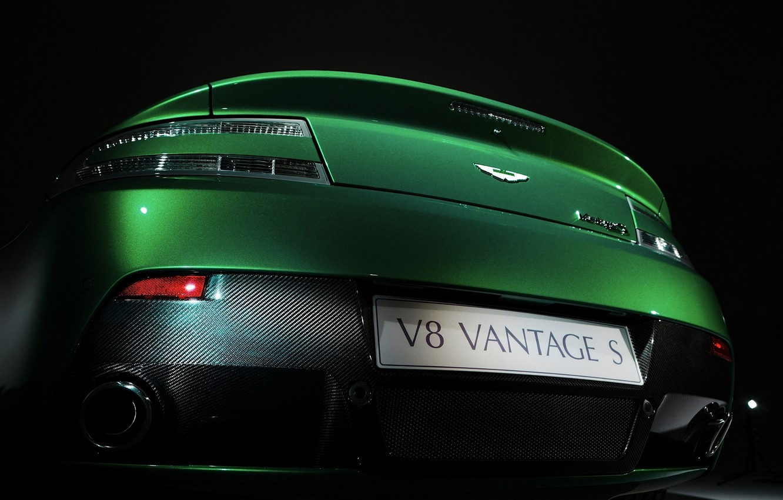Photo wallpaper greens, Aston Martin, Aston Martin, carbon, ass, Vantage S Roadster