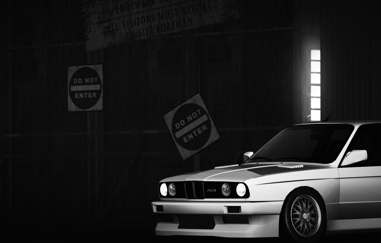 Photo wallpaper BMW, Stance, Need for speed world