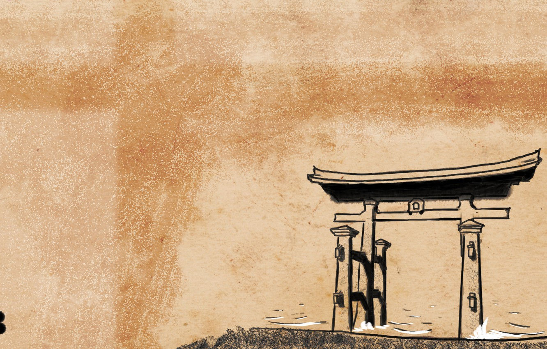 Photo wallpaper Japan, Shinto, Japanese style, torii