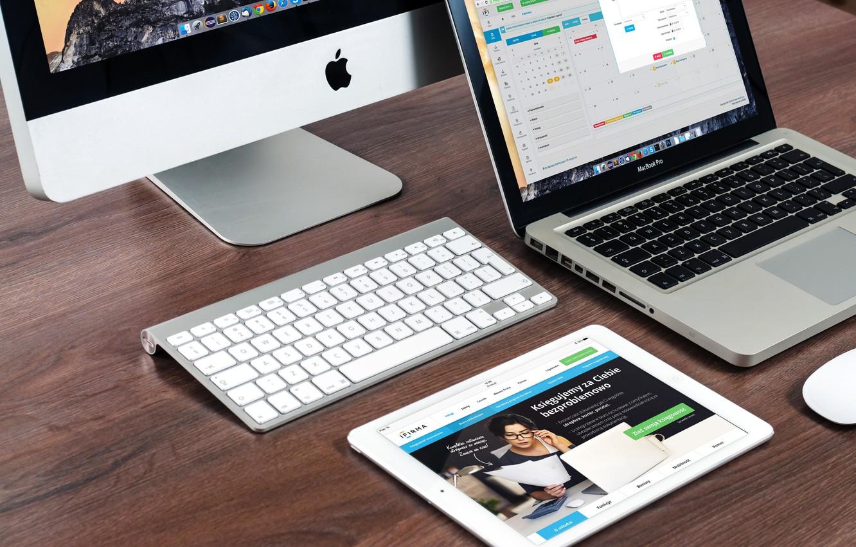 Photo wallpaper Apple, MacBook, iPad, iMac