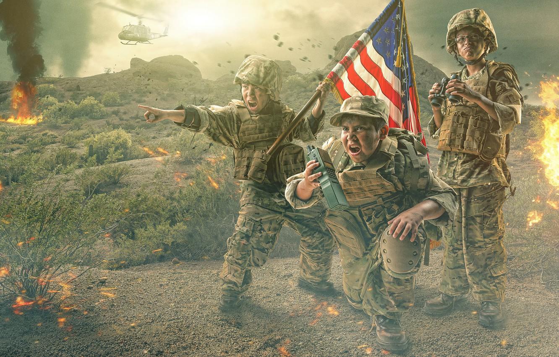 Photo wallpaper war, battlefield, Military