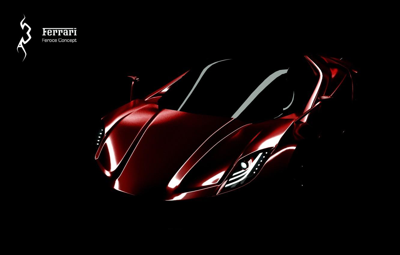 Photo wallpaper concept, Ferrari, red