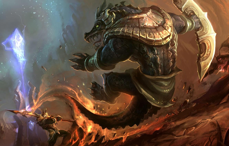 League Of Legends Renekton Vs Jarvan League Wallpapers App