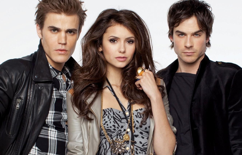 Photo wallpaper people, ring, pierce, vampire, Floor, actors, brothers, the, Nina, photoshoot, Elena, Elena, Stefan, vampire, vampire, ...