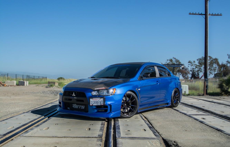 Photo wallpaper Mitsubishi, Lancer, Evolution, Speed, Charge, Bryan's, Kitted
