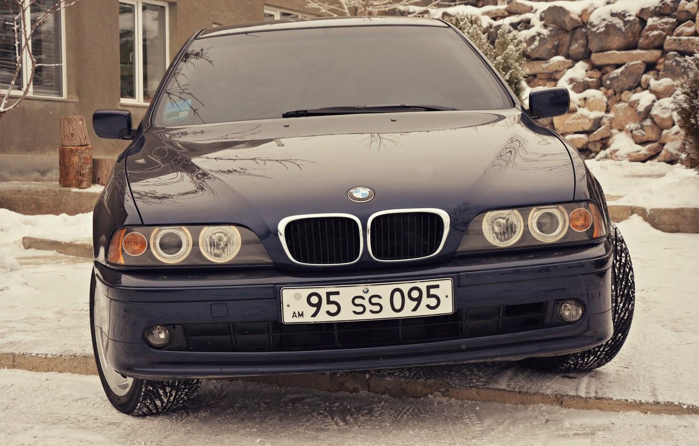 Photo wallpaper BMW, e39, angel eyes, 520