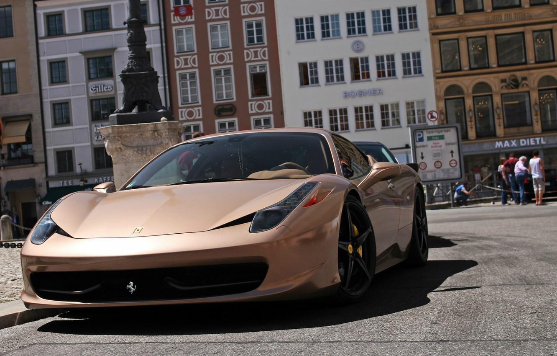 Photo wallpaper auto, street, supercar, Ferrari 458 Italia, Ferrari 458 Italy