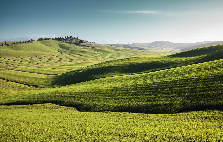 Photo wallpaper summer, grass, landscape, nature, space