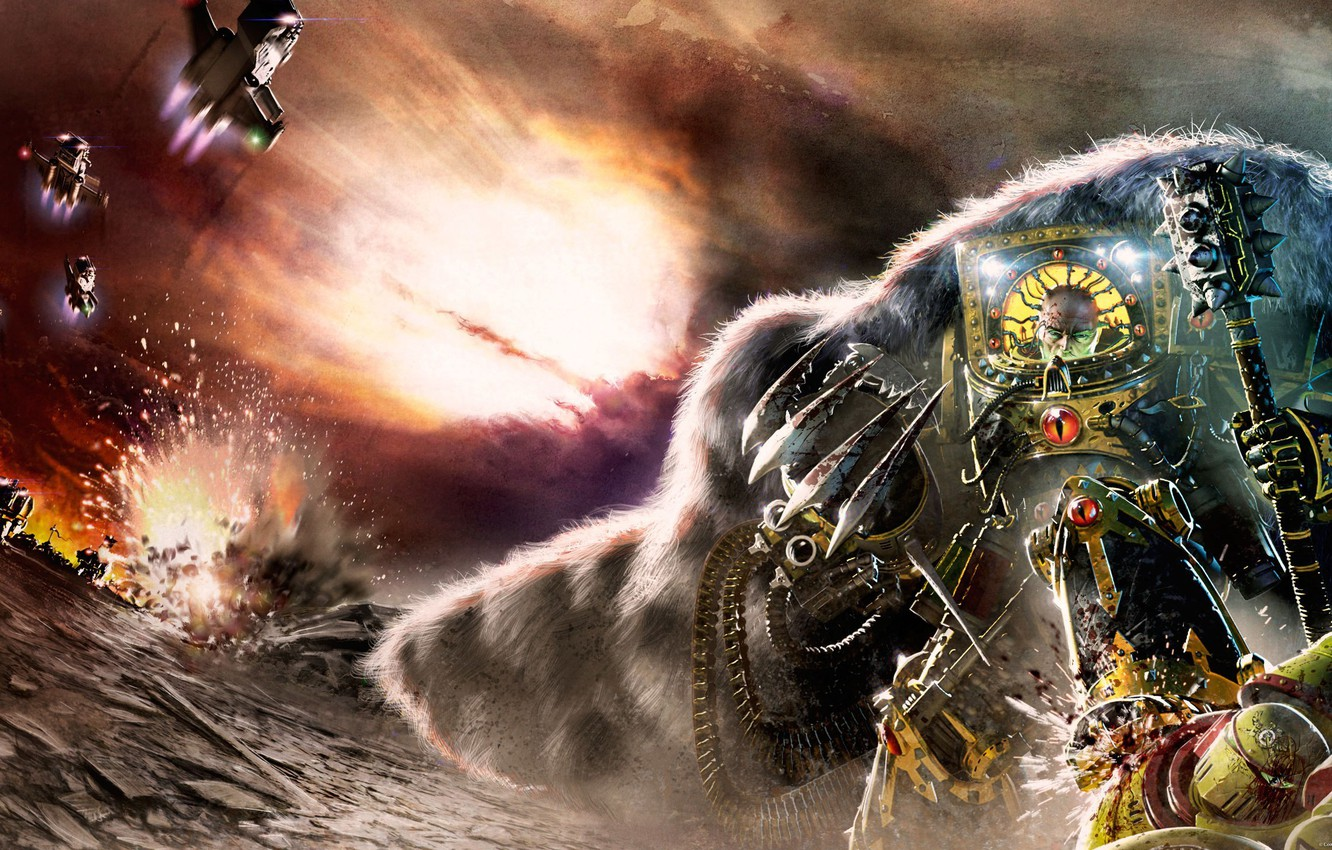 Wallpaper Horus Heresy Warhammer 40000 Space Marine Horus Primarch Imperial Fist Age Of Darkness Images For Desktop Section Fantastika Download