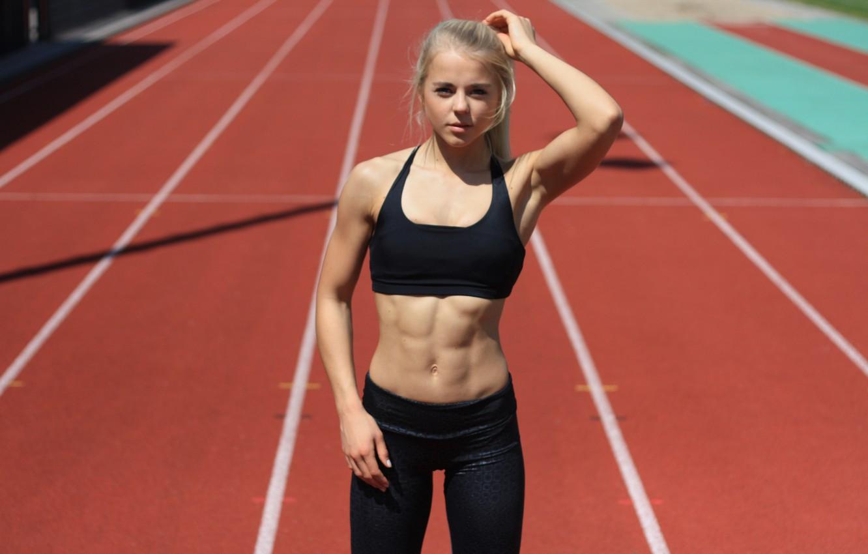 Photo wallpaper look, blonde, athlete, Maren schiller