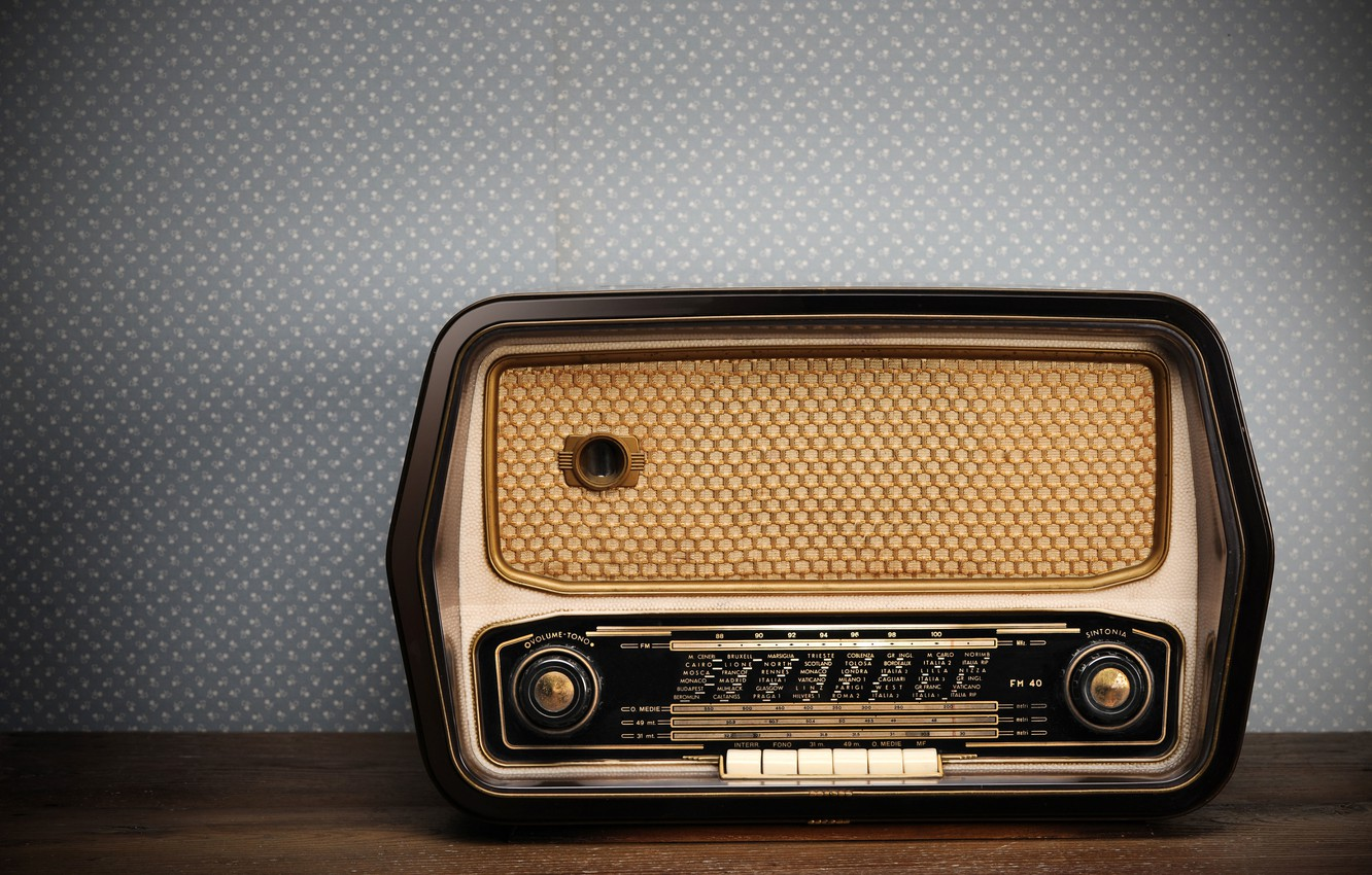 Photo wallpaper style, retro, old radio