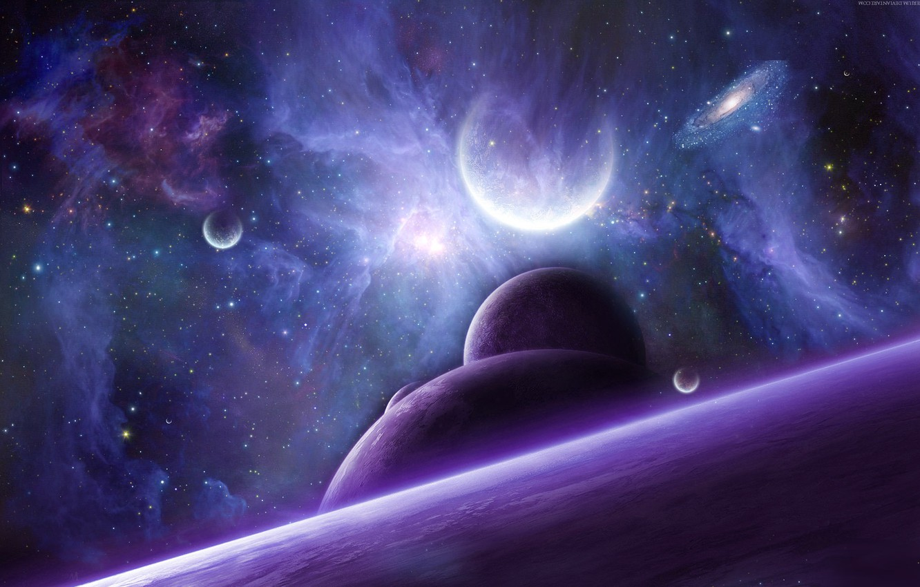 Wallpaper Space Stars Nebula Planet Art Galaxy Nathan Black Wolf Images For Desktop Section Kosmos Download