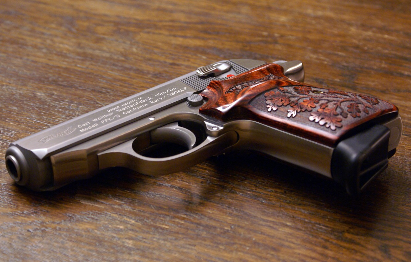 Photo wallpaper gun, weapons, Walther PPKS 380ACP