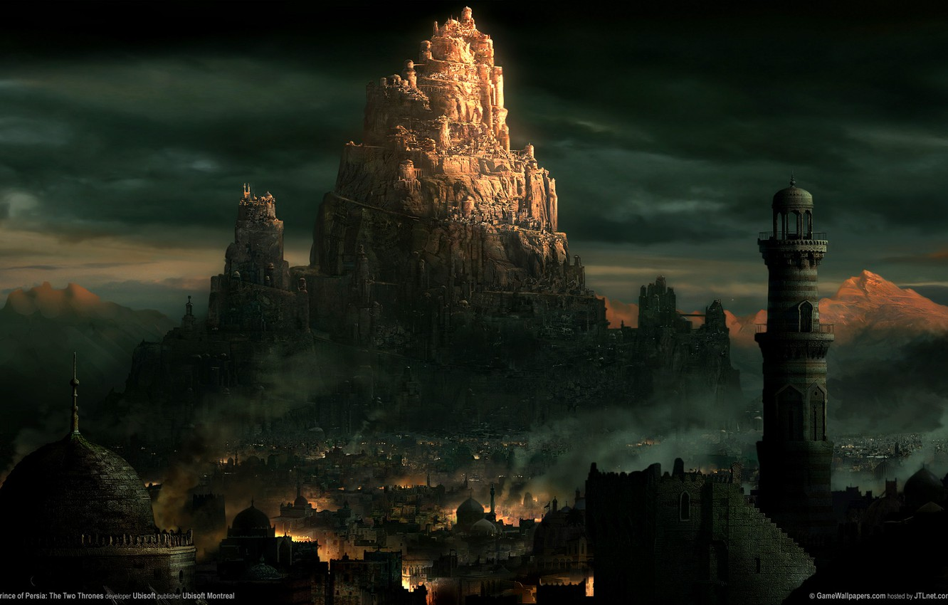 Photo wallpaper the city, tower, East, prince of persia