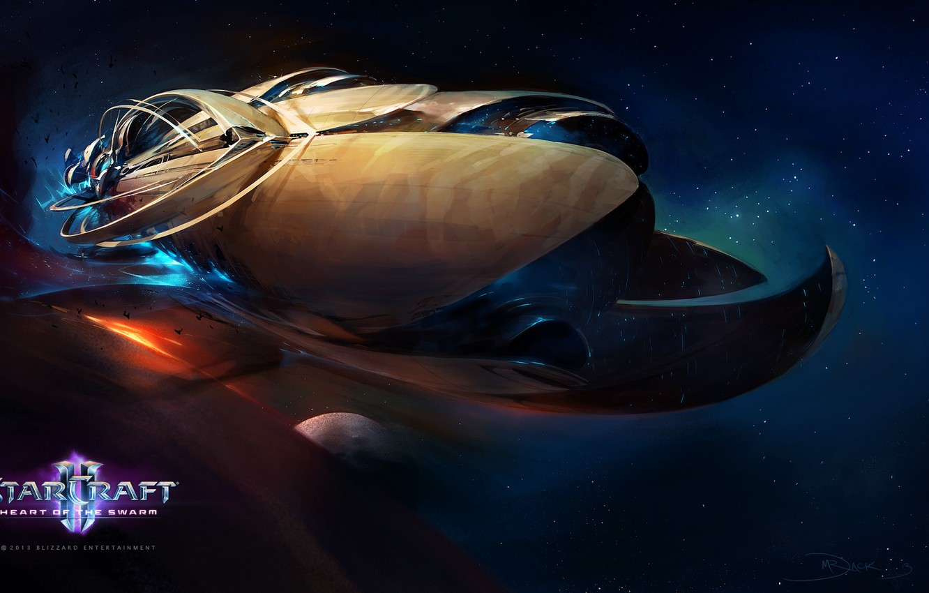 Wallpaper Space Ship Starcraft 2 Heart Of The Swarm