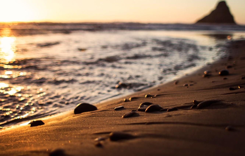 Photo wallpaper sand, wave, beach, shore