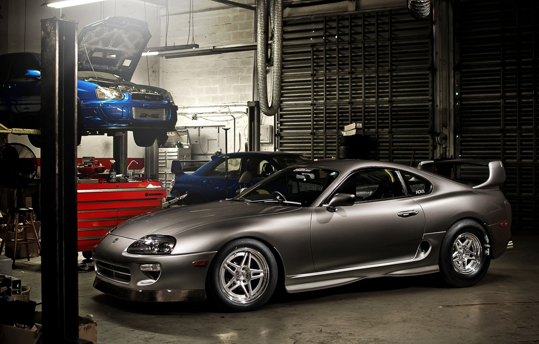 Photo wallpaper blue, grey, tuning, garage, Subaru, Impreza, WRX, sports car, STI, tuning, the front, Subaru, Impreza, …