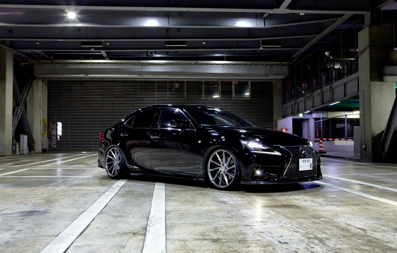 Photo wallpaper Lexus, wheels, black, vossen, frontside, is350