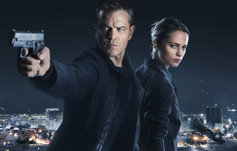 Photo wallpaper Matt Damon, Matt Damon, Alicia Vikander, Alicia Vikander, Jason Bourne, Jason Bourne