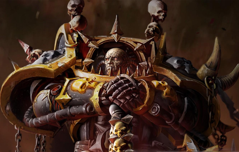 Photo wallpaper eyes, spark, Warhammer, 40000, chaos, space Marines, Dawn of War 2, armor
