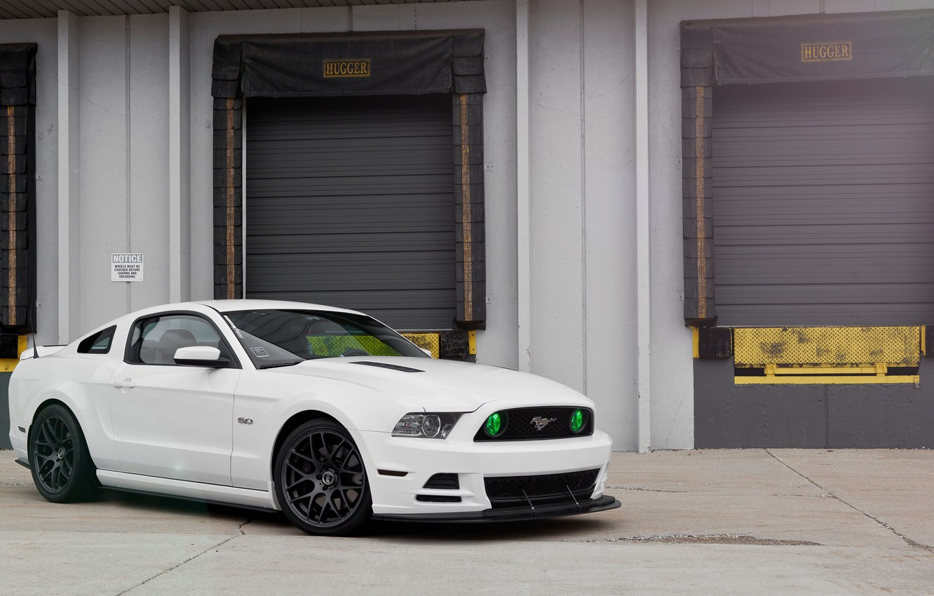 Photo wallpaper white, Mustang, Ford, GT500, Mustang, Ford, 5.0