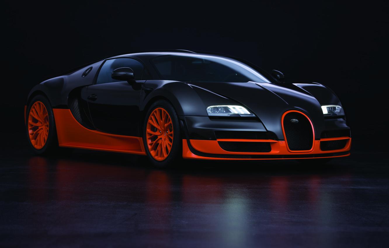 Photo wallpaper supercar, Bugatti Veyron, Super Sport, 16.4, the fastest production car