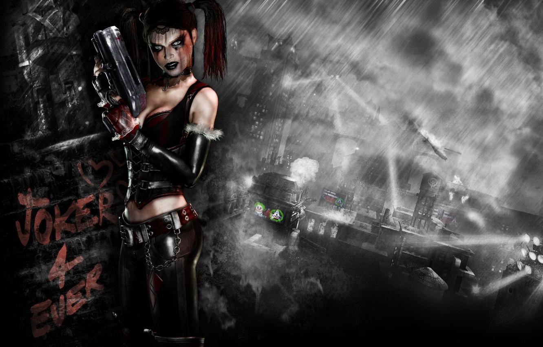 Photo wallpaper batman, arkham city, harley quinn, Harley Quinn, dlc