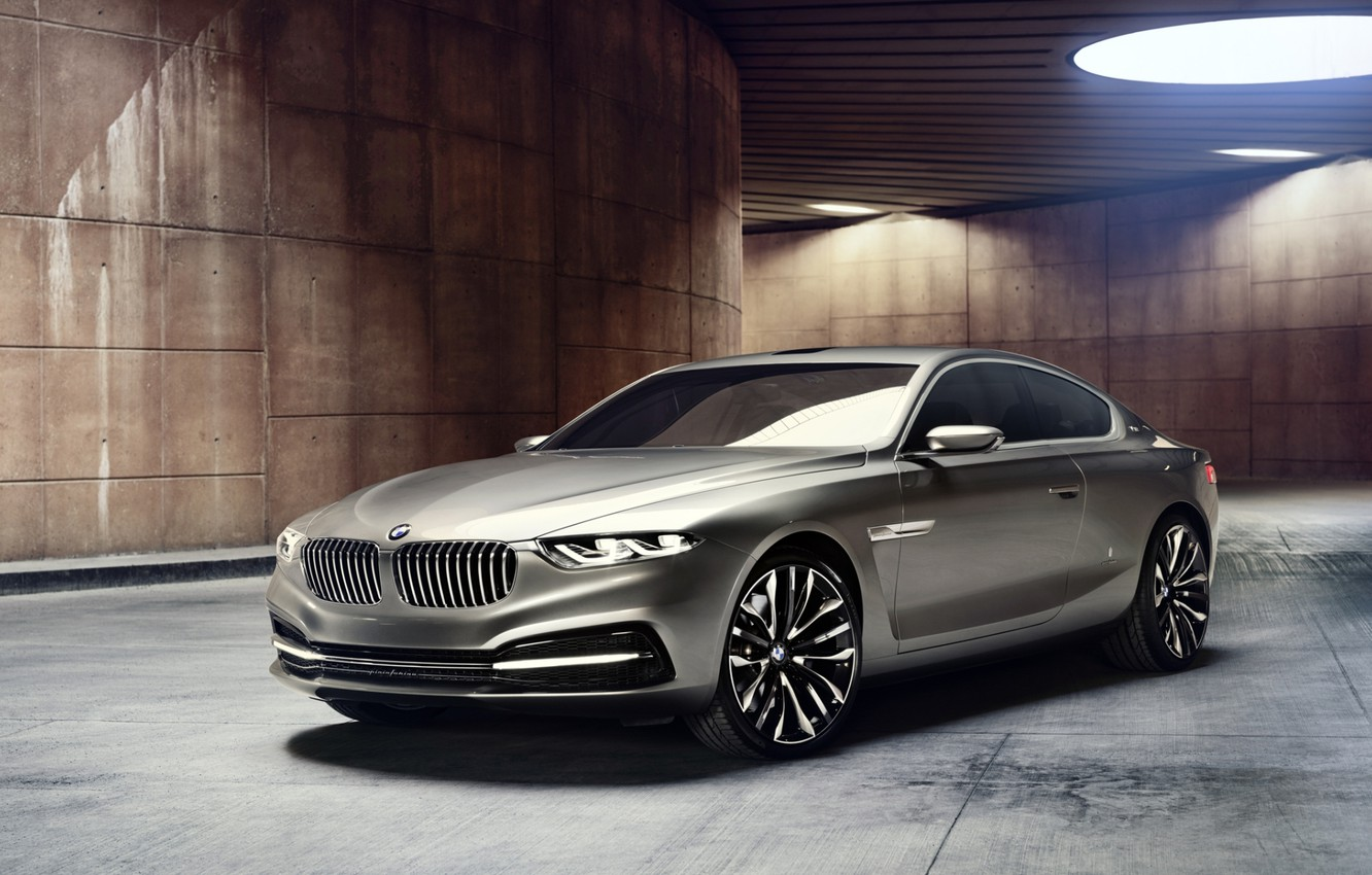 Photo wallpaper background, lamp, coupe, BMW, BMW, the concept, Coupe, the front, Gran Lasso, Gran Lusso