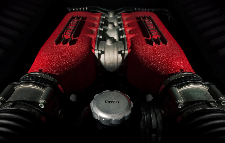 Photo wallpaper Italia, Ferrari 458, Engine