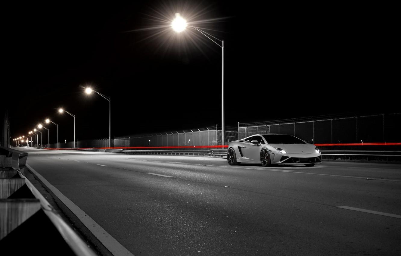 Photo wallpaper Lamborghini, Gallardo, Front, LP 570-4, Supercar, Corse, Squadra