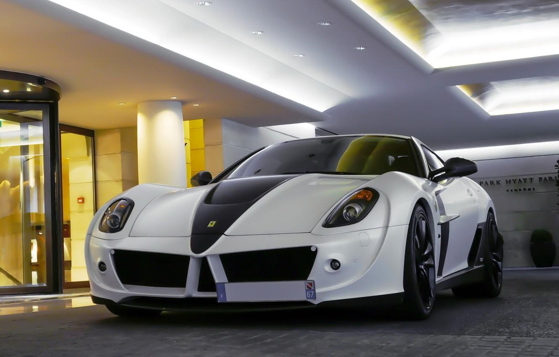 Photo wallpaper Ferrari, 599, White, Mansory, Stallone