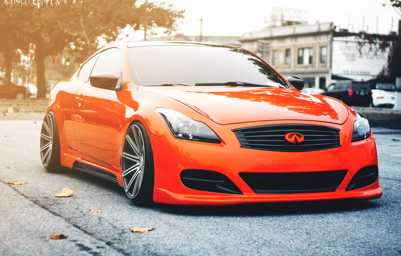 Photo wallpaper tuning, orange, Infiniti, infiniti, tuning, orange, stance, G35