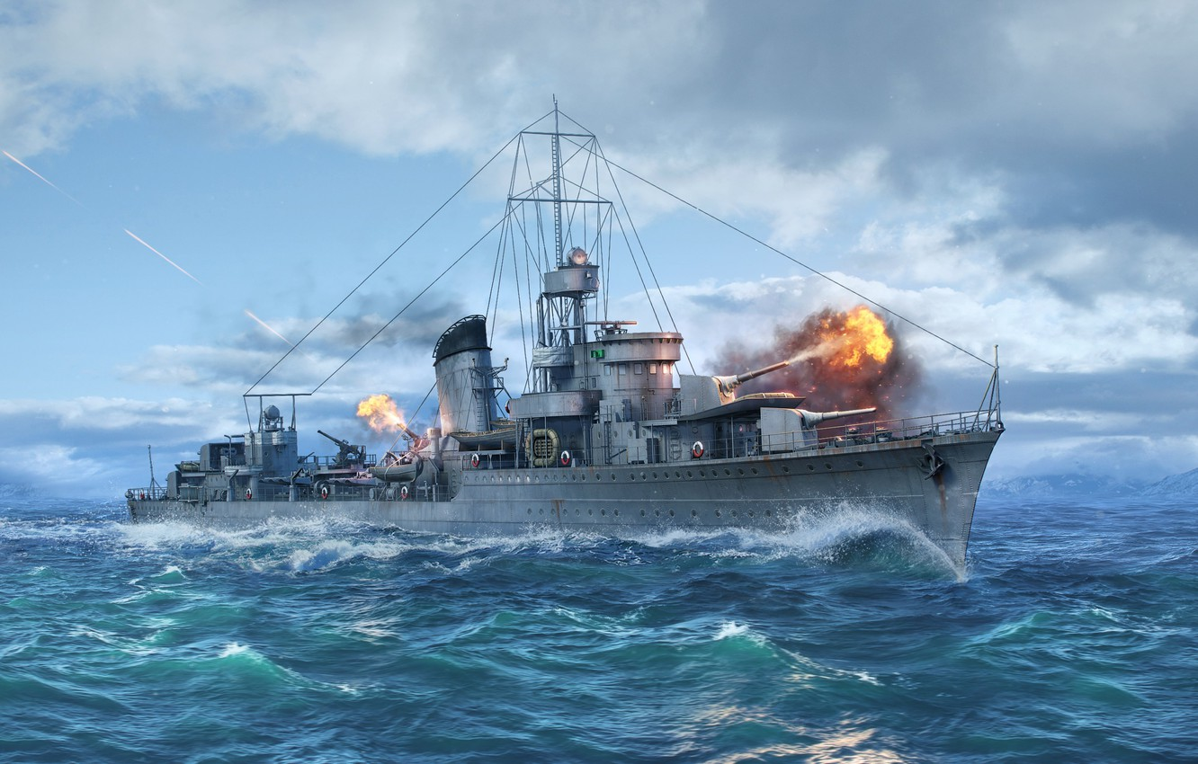 Wallpaper Destroyer, Wargaming Net, WoWS, World of Warships