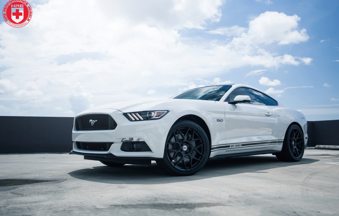 Photo wallpaper Mustang, Ford, GT350, on HRE, FF01, FlowForm