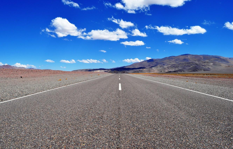 Photo wallpaper Road, Chile, Atacama Desert