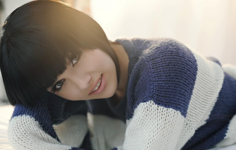 Photo wallpaper girl, smile, model, Mellisa Clarke, Mellisa, Clarke