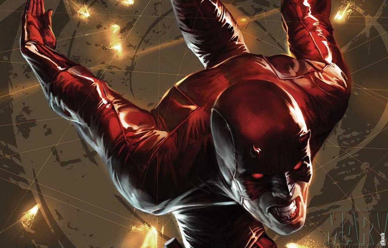 Photo wallpaper red, Marvel, Daredevil, Daredevil, Matt Murdock, Matt Murdock