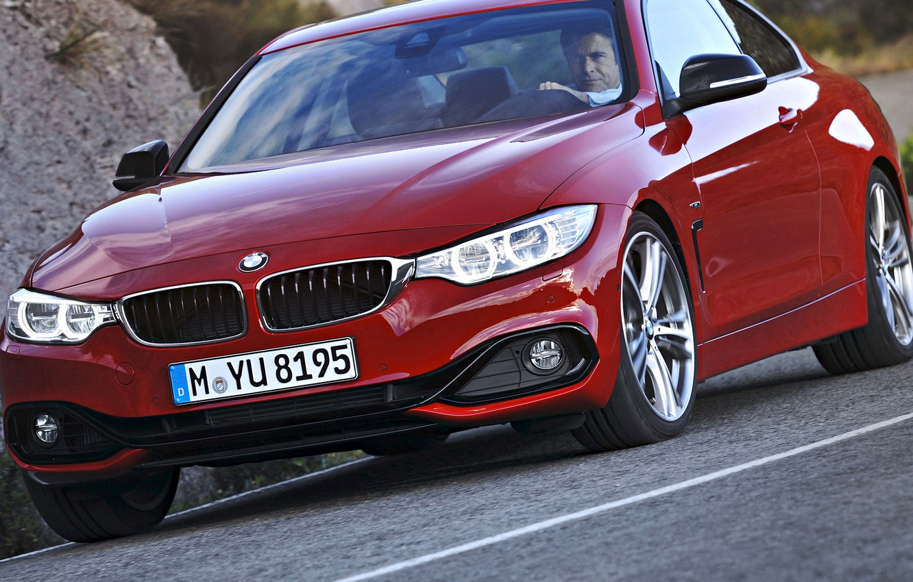 Photo wallpaper road, coupe, BMW, the fourth series