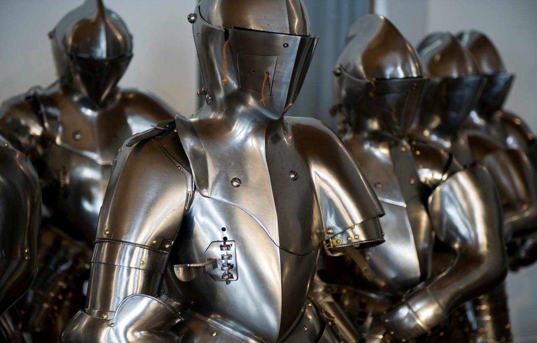 Photo wallpaper metal, pearls, Full Armor of battle