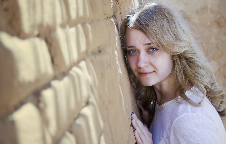 Photo wallpaper girl, the sun, the city, blonde, blue eyes