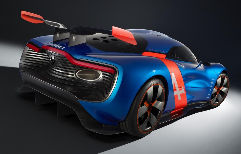 Photo wallpaper Concept, the concept, Renault, spoiler, Reno, rear view, wing, Alpine, Alpine, A110-50